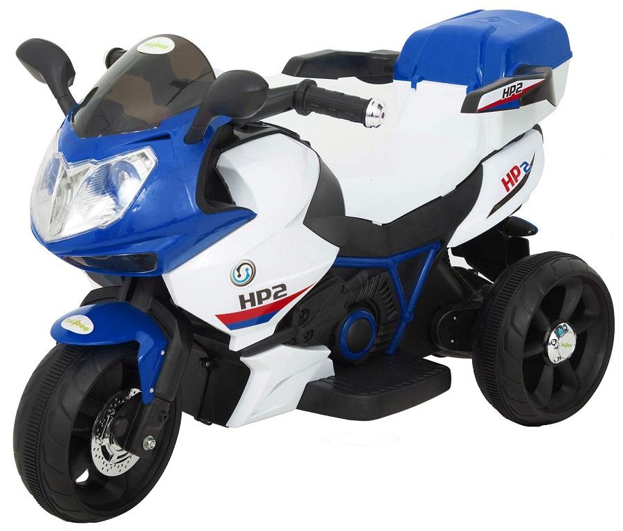 Motocicleta electrica cu 3 roti Premier HP2, 6V, 2 motoare, MP3, albastru