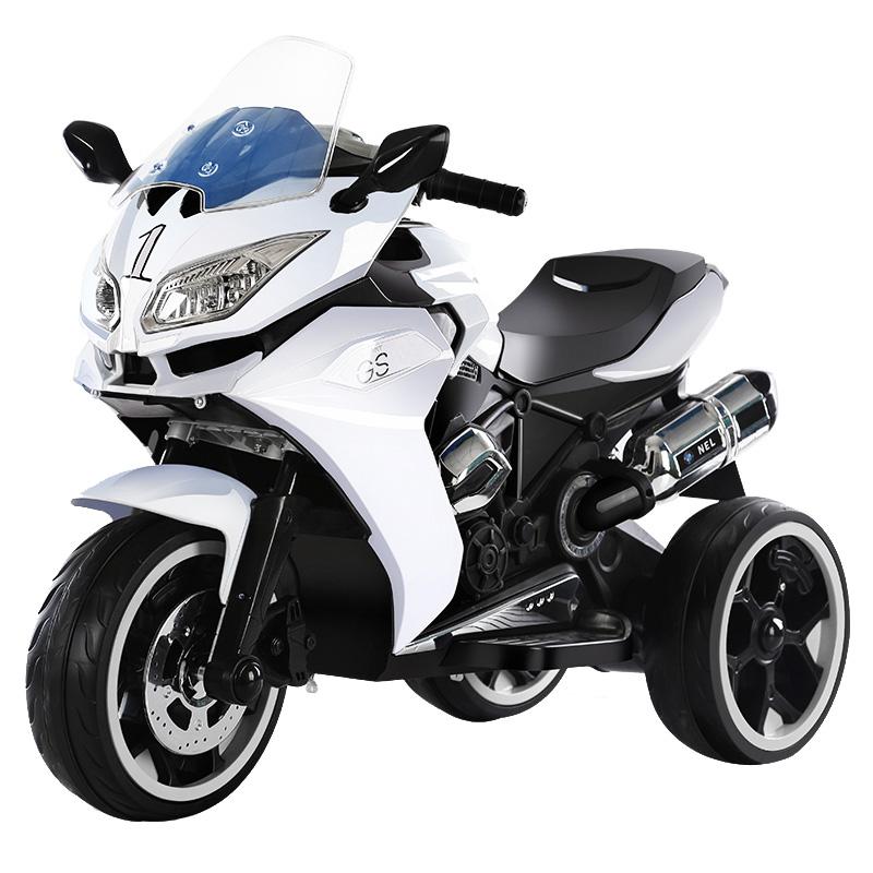 Motocicleta electrica cu 3 roti Premier Sport, 6V, 2 motoare, MP3, alba