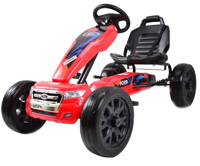 Kart Ford rosu cu pedale