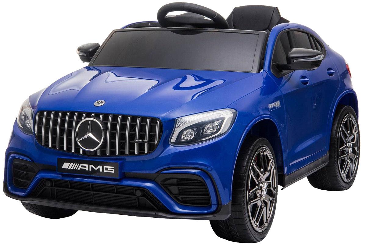 Masinuta electrica Premier Mercedes GLC 63S, 12V, roti cauciuc EVA, scaun piele ecologica, albastru