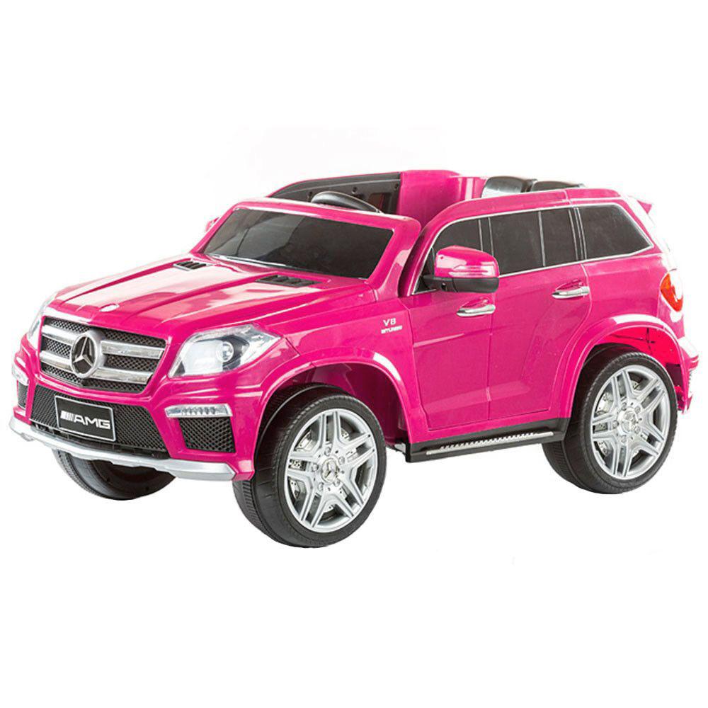 Masinuta electrica Mercedes GL63 Roz cu anvelope din cauciuc