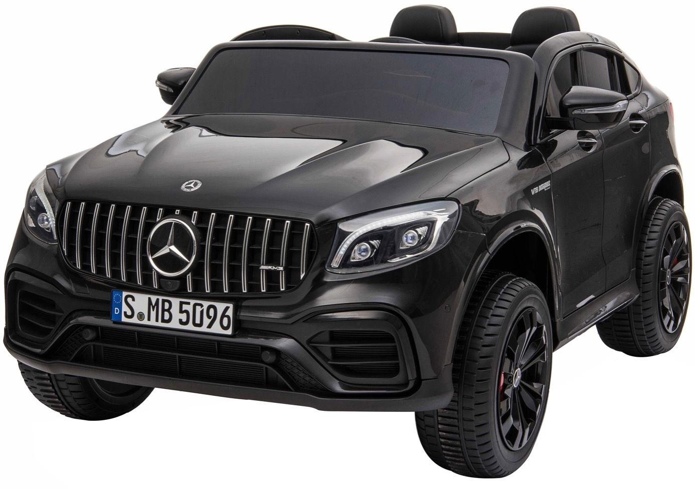Masinuta electrica 4x4 Premier Mercedes GLC 63S Maxi, 12V, roti cauciuc EVA, scaun piele ecologica, negru