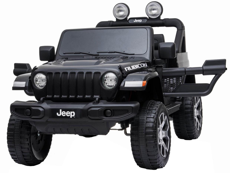 Masinuta electrica 4x4 Jeep Wrangler Rubicon 12V cu portiere negru