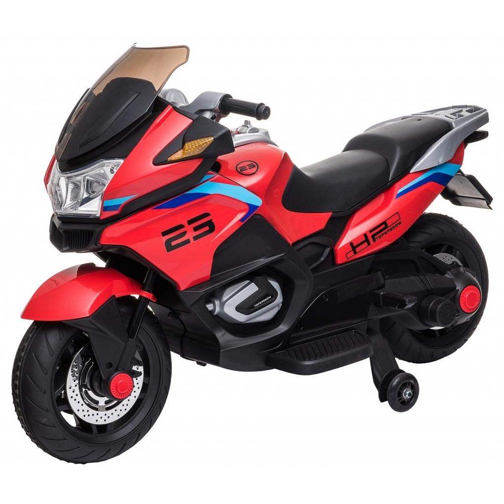 Motocicleta electrica cu 2 roti Premier Flash, 12V, roti cauciuc EVA, MP3, rosie