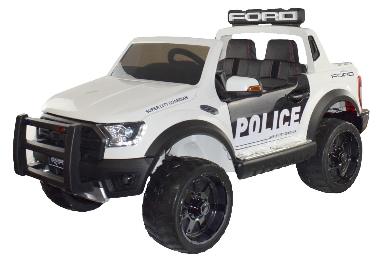 Masinuta electrica Ford Raptor Politie alb