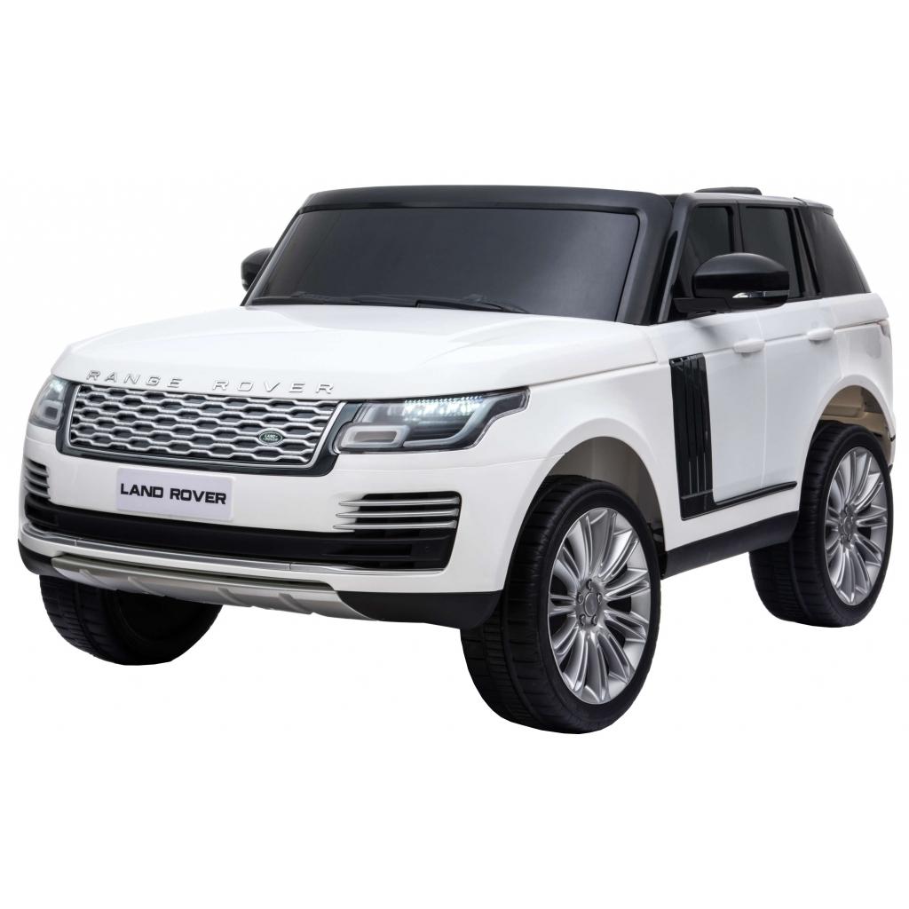 Masinuta electrica Premier Range Rover Vogue HSE, 12V, 2 locuri, roti cauciuc EVA, scaun piele ecologica, alb