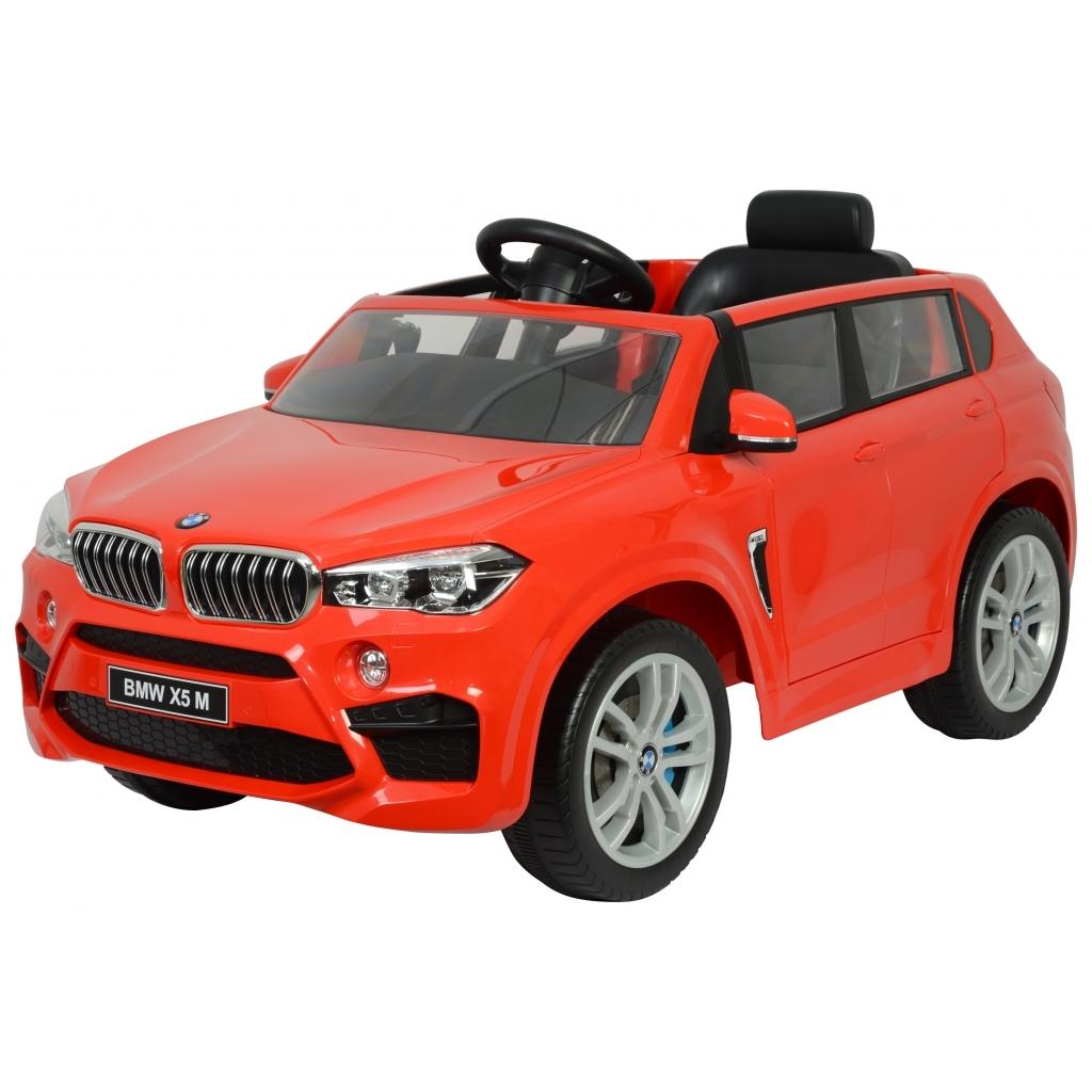 Masinuta electrica SUV Premier BMW X5M, 12V, roti cauciuc EVA, scaun piele ecologica, rosu