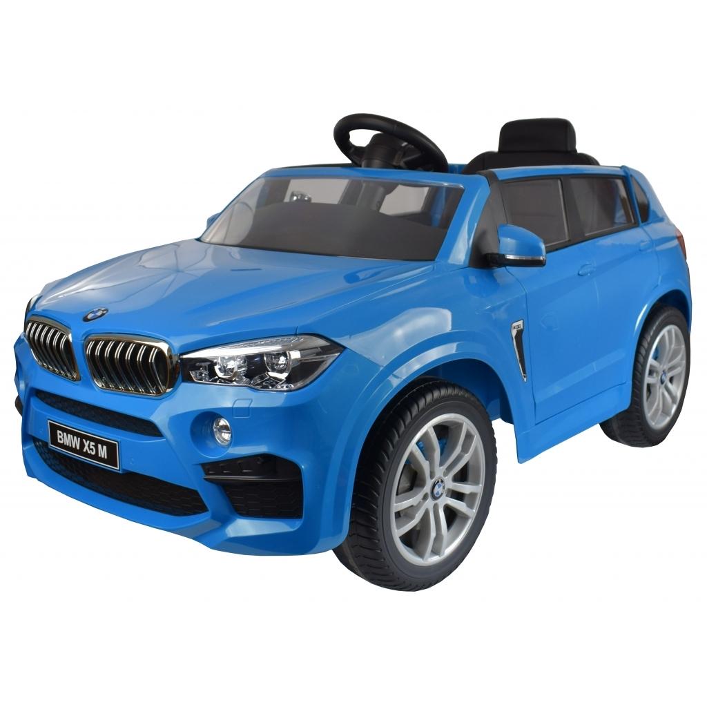 Masinuta electrica SUV Premier BMW X5M, 12V, roti cauciuc EVA, scaun piele ecologica, albastru