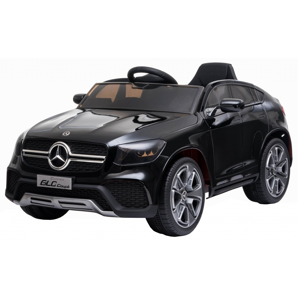 Masinuta electrica Premier Mercedes GLC Concept Coupe, 12V, roti cauciuc EVA, scaun piele ecologica, negru