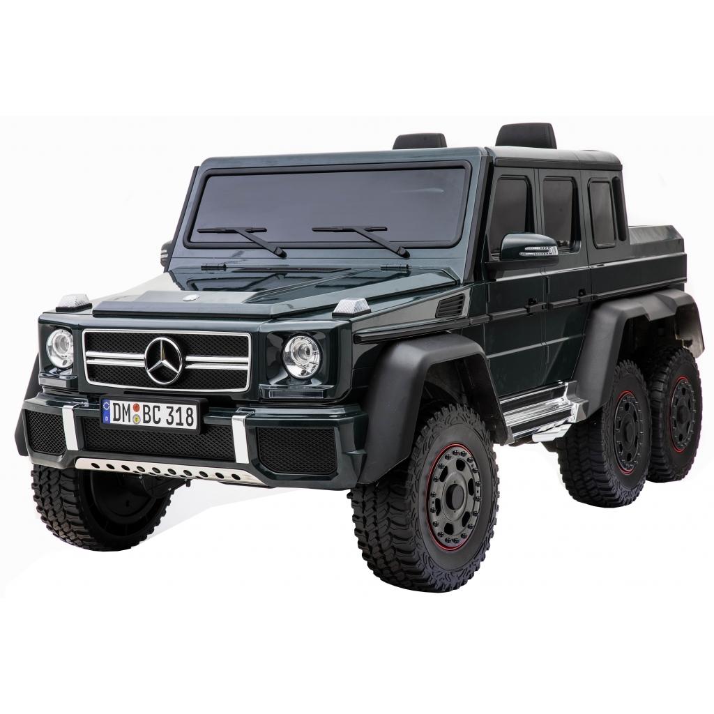 Masinuta electrica Mercedes G63 Solo, 2 baterii 12V, 6 roti cauciuc EVA, 4x4, 1 loc, 4 motoare, negru