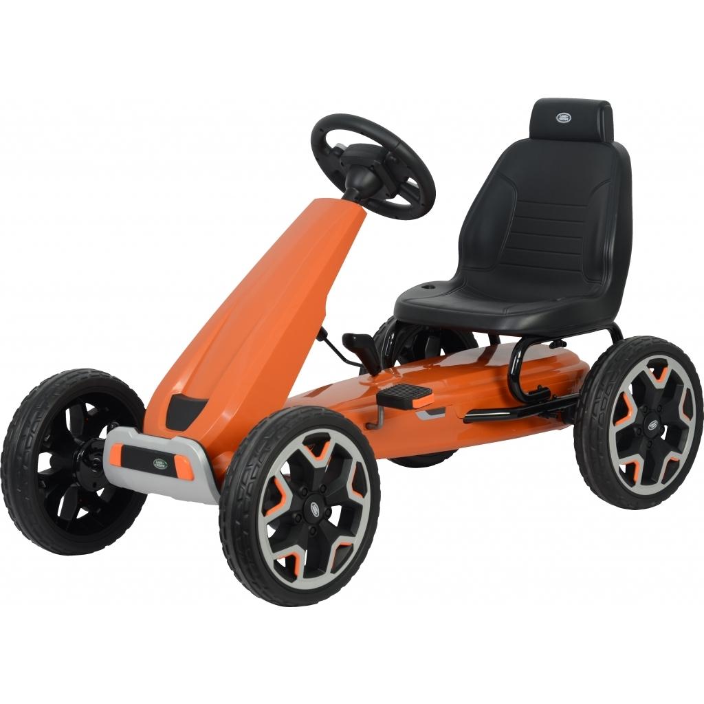 Kart Land Rover cu pedale pentru copii, roti cauciuc Eva, portocaliu