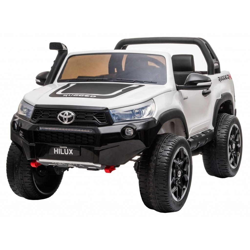 Masinuta electrica SUV Premier Toyota Hilux, 12V, 4x4, roti cauciuc EVA, scaun piele ecologica, alb