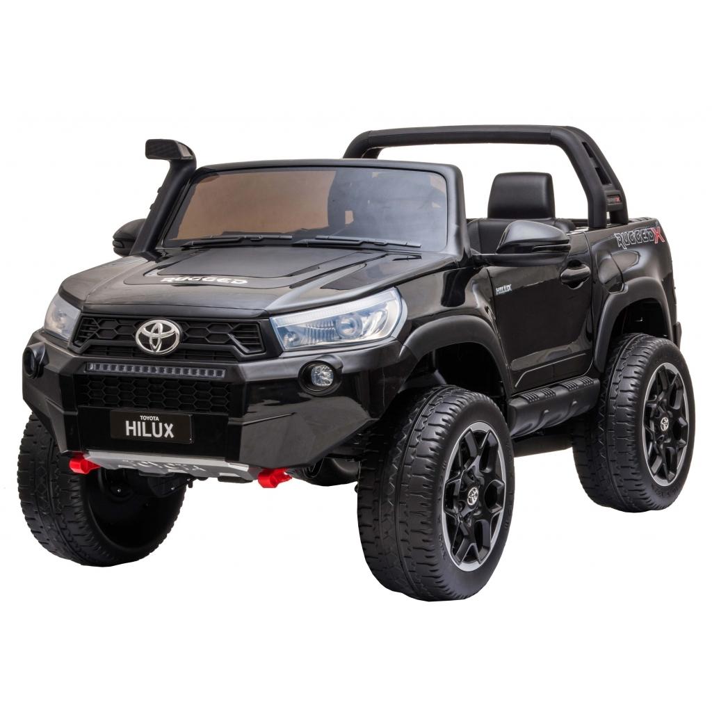 Masinuta electrica SUV Premier Toyota Hilux, 12V, 4x4, roti cauciuc EVA, scaun piele ecologica, negru