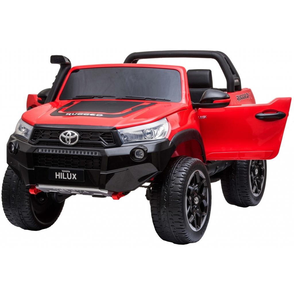 Masinuta electrica SUV Premier Toyota Hilux, 12V, 4x4, roti cauciuc EVA, scaun piele ecologica, rosu