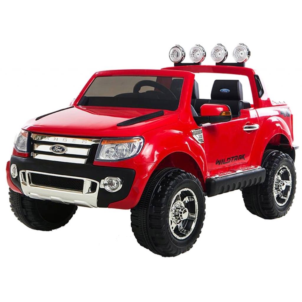 Masinuta electrica Ford Ranger rosu, cu anvelope din cauciuc