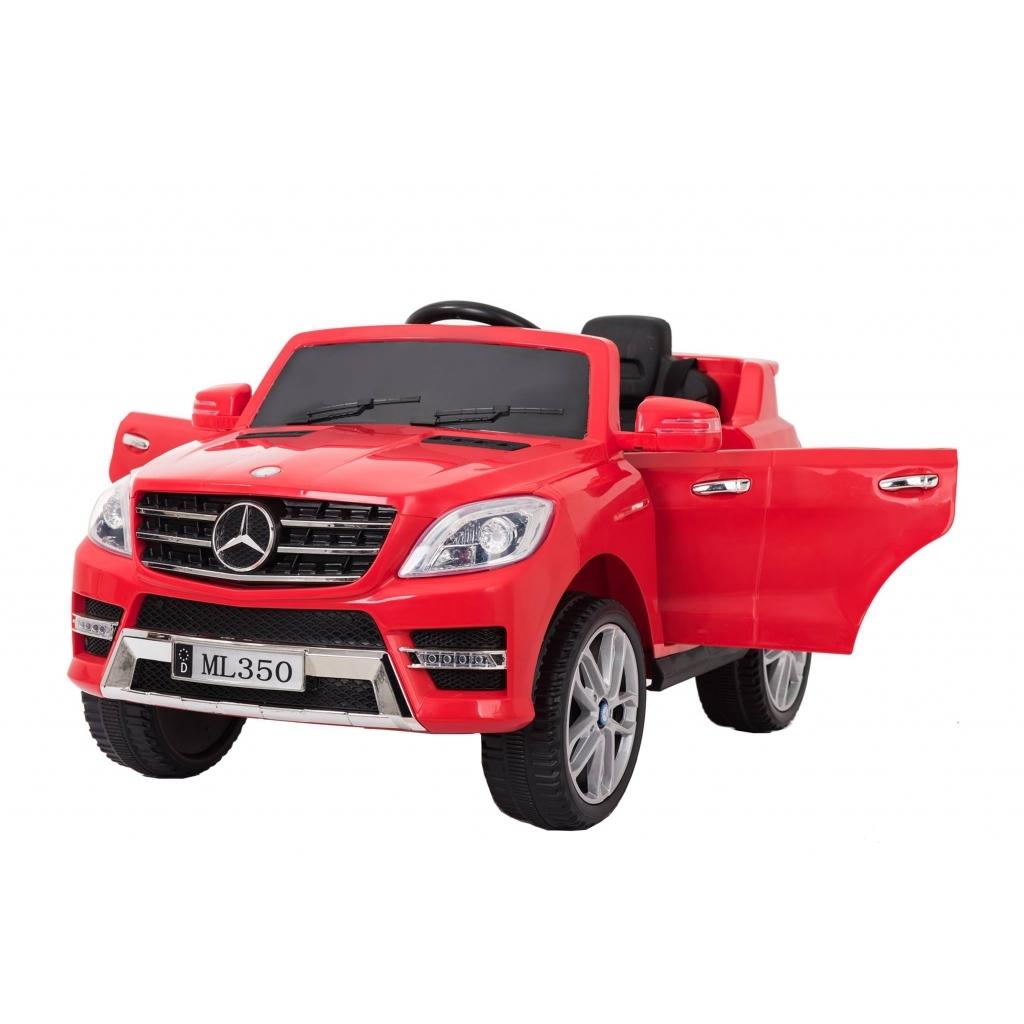 Masinuta electrica Premier Mercedes ML-350 4MATIC, 12V, roti cauciuc EVA, Bluetooth, rosu