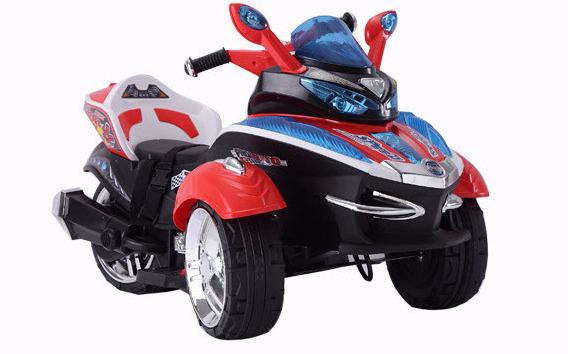Motocicleta electrica cu 3 roti Premier HC-1038, 12V, 1 motor, MP3, lumini, rosu