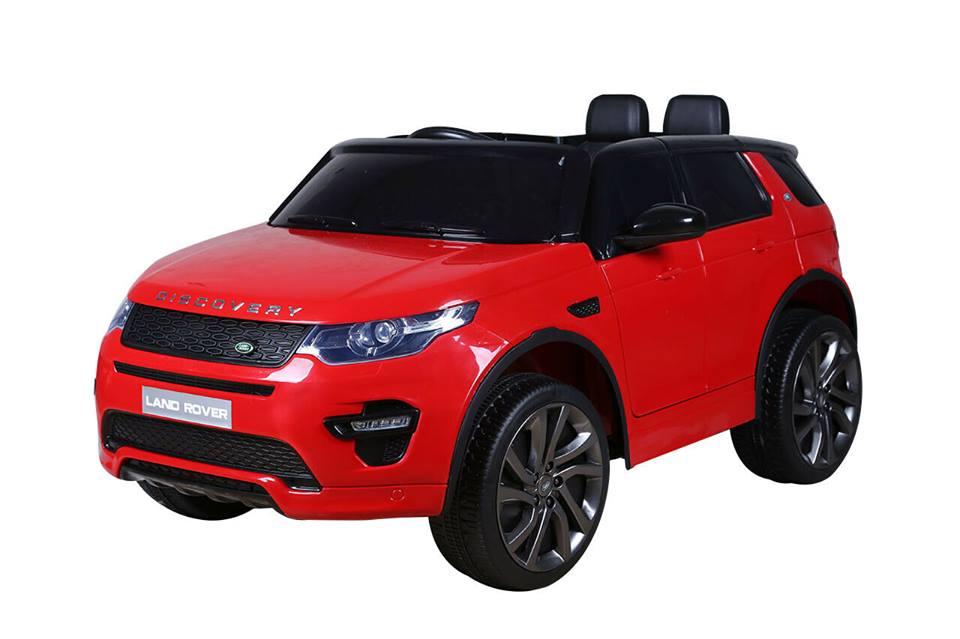 Masinuta electrica Premier Land Rover Discovery, 12V, roti cauciuc EVA, scaun piele ecologica, rosie