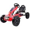 Kart Ford rosu cu pedale pentru copii, roti cauciuc Eva