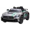 Masinuta electrica Premier Mercedes GT4, 12V, roti cauciuc EVA, scaun piele ecologica, gri