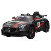 Masinuta electrica Premier Mercedes GT4, 12V, roti cauciuc EVA, scaun piele ecologica, negru
