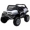 Masinuta electrica 4x4 Premier Mercedes Unimog, 12V, roti cauciuc EVA, scaun piele ecologica, alba