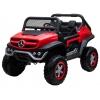 Masinuta electrica 4x4 Premier Mercedes Unimog, 12V, roti cauciuc EVA, scaun piele ecologica, rosu