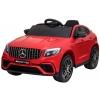 Masinuta electrica Premier Mercedes GLC 63S, 12V, roti cauciuc EVA, scaun piele ecologica, rosu