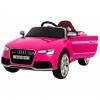 Masinuta electrica Premier Audi RS5, 12V, roti cauciuc EVA, scaun piele ecologica, roz