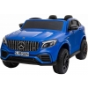 Masinuta electrica 4x4 Premier Mercedes GLC 63S Maxi, 12V, roti cauciuc EVA, scaun piele ecologica, albastru