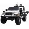 Masinuta electrica 4x4 Premier Jeep Wrangler Rubicon, 12V, roti cauciuc EVA, scaun piele ecologica, alb