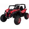 Buggy electric pentru 2 copii Premier 4x4 Superstar, ecran LCD, MP4, cu 2 baterii, roti cauciuc EVA, scaun piele ecologica, rosu