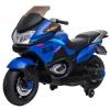 Motocicleta electrica cu 2 roti Premier Flash, 12V, roti cauciuc EVA, MP3, albastra