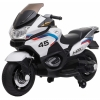Motocicleta electrica cu 2 roti Premier Flash, 12V, roti cauciuc EVA, MP3, alba