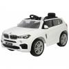 Masinuta electrica SUV Premier BMW X5M, 12V, roti cauciuc EVA, scaun piele ecologica, alb
