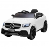 Masinuta electrica Premier Mercedes GLC Concept Coupe, 12V, roti cauciuc EVA, scaun piele ecologica, alb