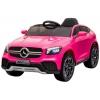 Masinuta electrica Premier Mercedes GLC Concept Coupe, 12V, roti cauciuc EVA, scaun piele ecologica, roz
