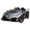 Masinuta electrica 4 x 4 Premier Lamborghini Veneno, 12V, roti cauciuc EVA, scaun piele ecologica, argintiu