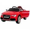 Masinuta electrica Premier Audi RS5, 12V, roti cauciuc EVA, scaun piele ecologica, rosie