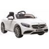Masinuta electrica Premier Mercedes SL65 AMG, 12V, roti cauciuc EVA, scaun piele ecologica, alb