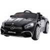 Masinuta electrica Premier Mercedes SL65 AMG, 12V, roti cauciuc EVA, scaun piele ecologica, negru
