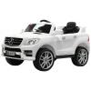 Masinuta electrica Premier Mercedes ML-350 4MATIC, 12V, roti cauciuc EVA, Bluetooth, alb
