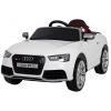 Masinuta electrica Premier Audi RS5, 12V, roti cauciuc EVA, scaun piele ecologica, alba