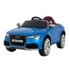 Masinuta electrica Premier Audi RS5, 12V, roti cauciuc EVA, scaun piele ecologica, albastra