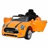 Masinuta electrica Mini Cooper Cabrio portocaliu