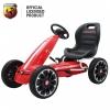 Kart Abarth rosu cu pedale pentru copii, roti cauciuc Eva