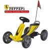 Kart cu pedale Ferrari galben