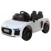 Masinuta electrica Premier Audi R8 Spyder, 12V, roti cauciuc EVA, scaun piele ecologica, alba