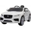 Masinuta electrica Premier Jaguar F-Pace, 12V, roti cauciuc EVA, scaun piele ecologica, alba